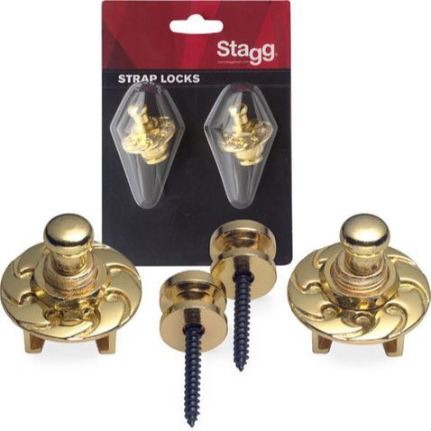 Strap Lock Stagg Ssl1 Gd - Gold