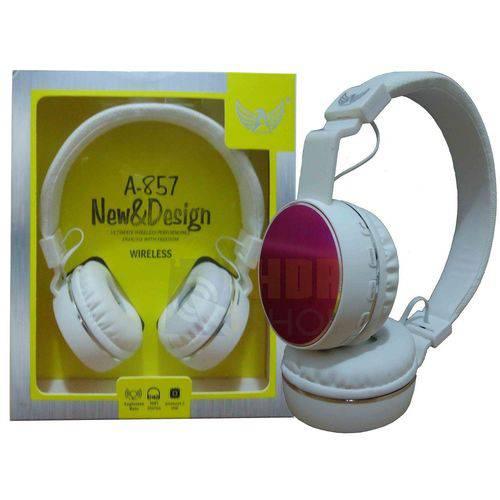 Super Fone de Ouvido Stereo Bluetooth A-857- Altomex Branco