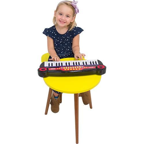 Super Piano com Gravador de Voz Preto Brink+