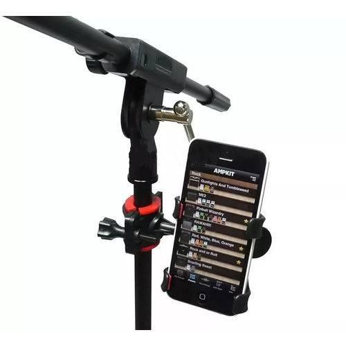 Suporte Celular Pedestal de Microfone Toca Violão Gravação