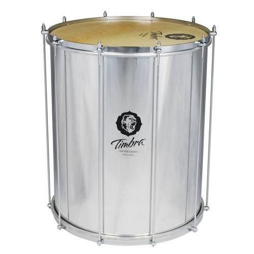 Surdo Samba 18 Polegadas X 55 Cm Alumínio com Aro Cromado