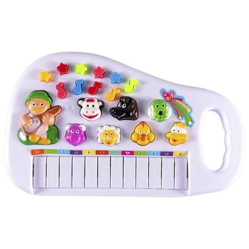 Teclado Baby Fazendinha WB5659 Well Kids Branco