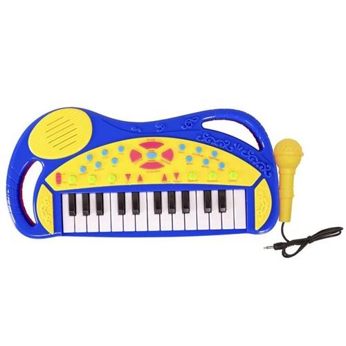 Teclado com Microfone HA0040 Havan Azul Azul