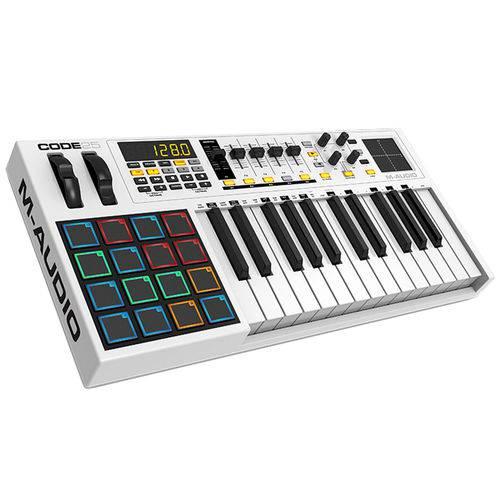 Teclado Controlador MIDI 25 Teclas C/ USB - Code 25 M-Audio