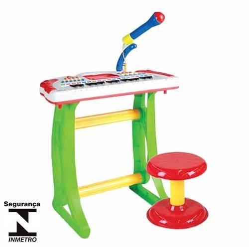 Teclado Eletrônico Infantil Musical Banqueta Band Rock 51110 Conthey