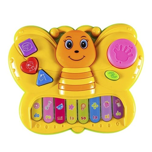 Teclado Infantil Dona Borboleta WB5670 Well Kids Amarelo Amarelo