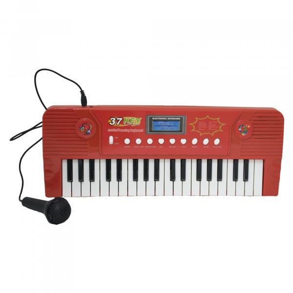 Teclado Infantil Eletrônico Musical com Microfone - Bbr Toys