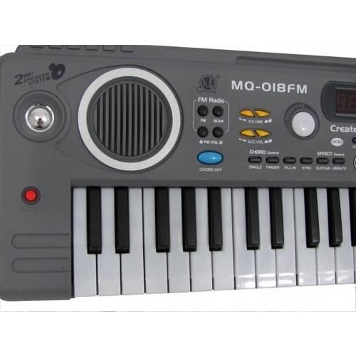 Teclado Infantil Musical 49 Teclas C/Microfone - Mq-018fm