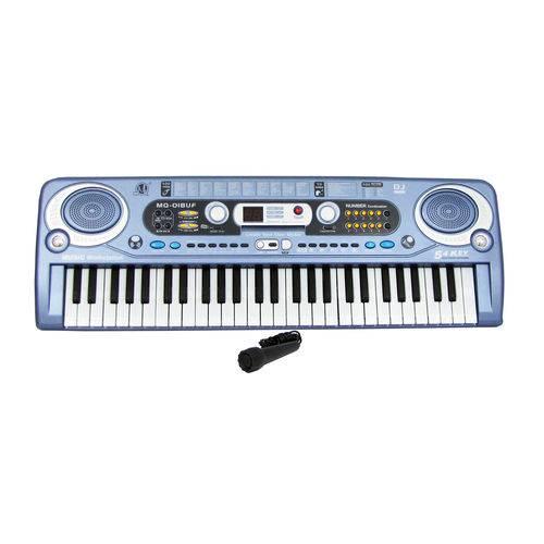Teclado Infantil Musical 54 Teclas USB com Microfone MQ-018UF