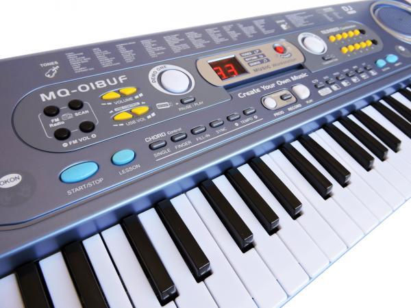Teclado Infantil Musical 54 Teclas Usb MQ-018UF - Key Black