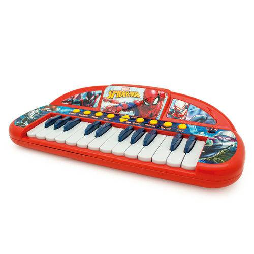 Teclado Infantil Musical - Spider-man - Marvel - Toyng