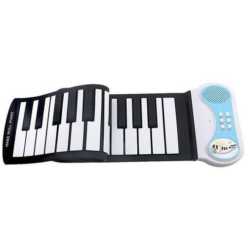 Teclado Musical Digital Flexível Silicone 37 Teclas Roll Up Midi Piano Eletrônico KH-PN37 Preto