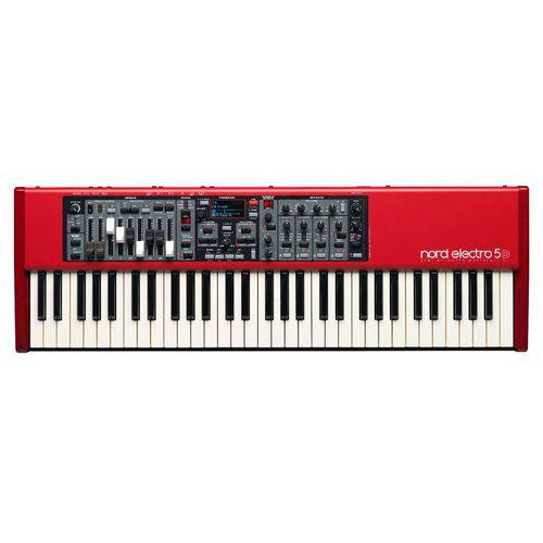 Teclado Musical Elétrico Nord Electro 5d 61 - Vermelho