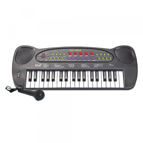 Teclado Piano Musical com Microfone 8 Ritmos Dm Toys