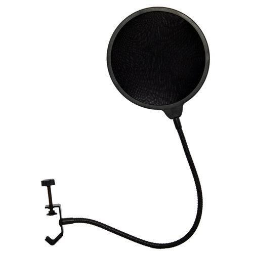Tela Anti Sopro Pop Filter Zion para Microfone Estúdio