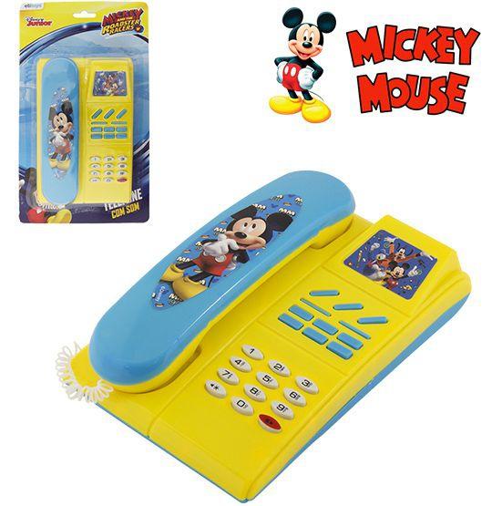 Telefone Musical Infantil Mickey a Pilha - Etitoys