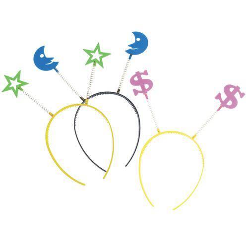 Tiara Festas Colorido - Pacote com 6 Unidades