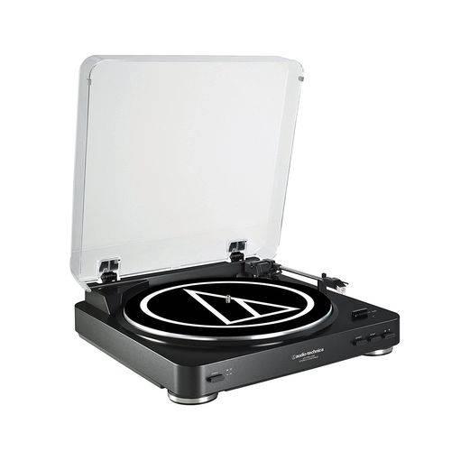 Toca Disco Audio Technica Lp60 Usb Automático 110v Preto At-lp60bk-usb