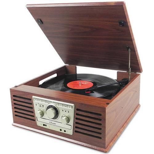 Toca Discos Ctx Sonata com Cd, Rádio Fm, Usb, Cartão de Memória, Entrada e Saída Auxiliar