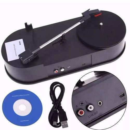 Toca Discos Vinil Lp Conversor para Mp3 33rpm Vitrola Mp3