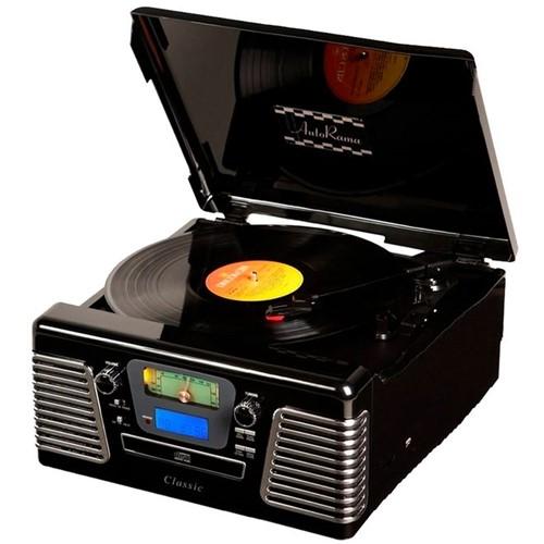Toca-Discos Vinil Retrô Autorama Preto 33.836 - Classic