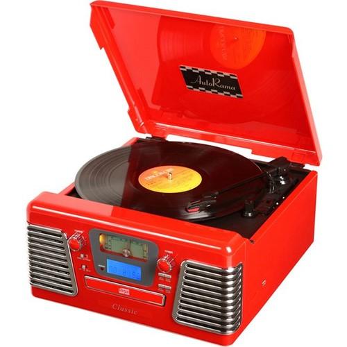Toca-Discos Vinil Retrô Autorama Vermelho 33.837 - Classic