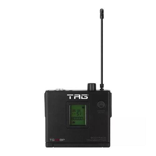 Transmissor Bodypack TG-88BP C/ Freq Variavel P/microfone Sem Fio UHF - Tag Sound