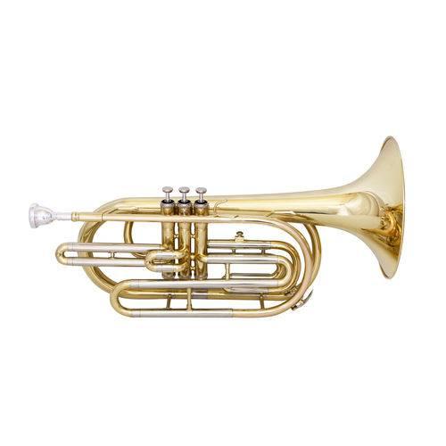 Trombonito Sib Zion By Plander Tb090l Laqueado com Estojo L