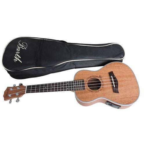 Ukulele Concert Barth Guitars Eletro Acustico Natural - EQ + Capa Bag Personalizada