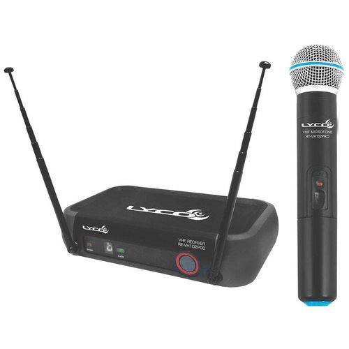 Vh102 Prom - Microfone Sem Fio de Mão Vhf Vh 102 Pro M Lyco