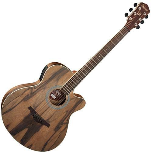 Violão Elétrico Jumbo Hmf271 Hofma com Afinador e Equalizador 5 Bandas Tampo Dao Wood