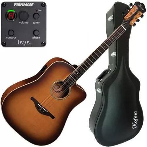 Violão Folk Eletroacústico Eq Fishman Case Luxo Hmp350 Hofma