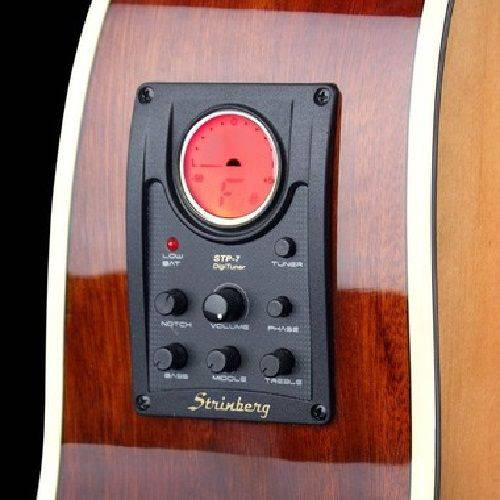 Violão Strinberg Sc20Bk Nylon Elétrico Afinador Stp-7