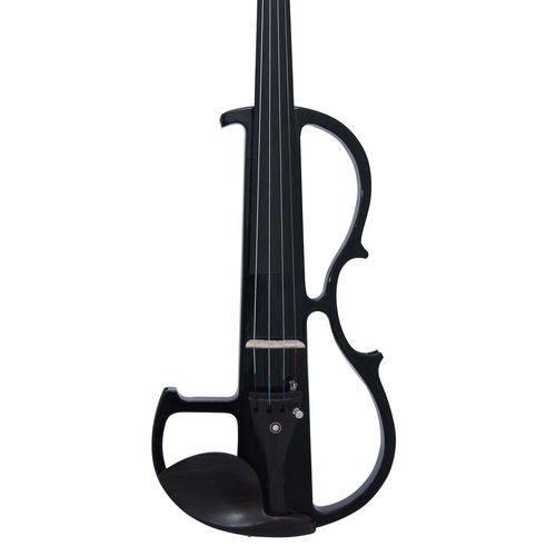 Violino 4/4 Elétrico Zion By Plander Silent Zev4505 Preto
