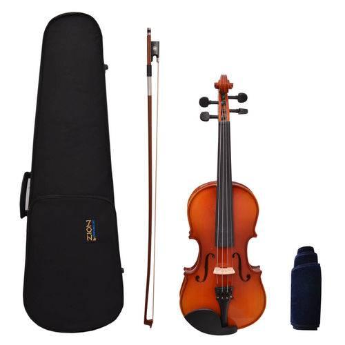 Violino 3/4 Zion By Plander Modelo Primo Madeira Maciça Imi