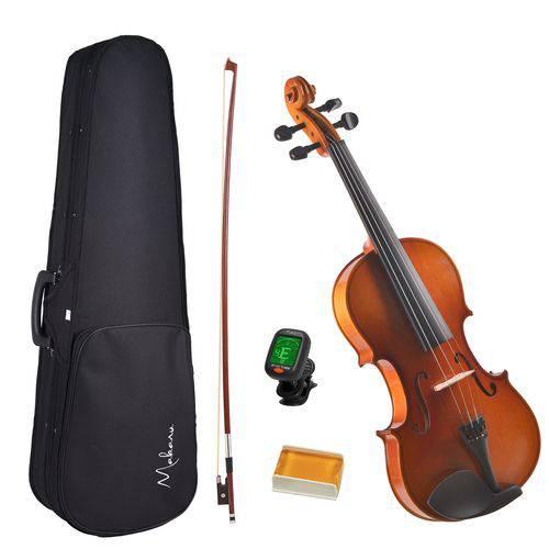 Violino Makanu Violins 4/4 com Estojo, Arco, Breu e Afinador