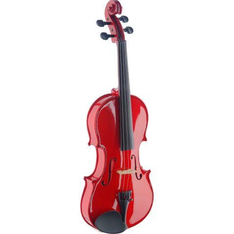 Violino Stagg Vn4/4 Tr- Vermelho Transparente