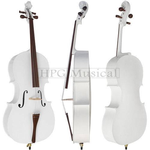 Violoncelo Branco Brilho Rolim Milor Cello 4/4