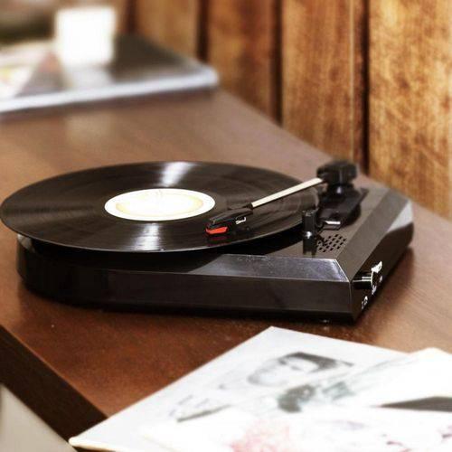 Vitrola Toca Discos de Vinil com Conversor Digital e Alto Falantes Uitech