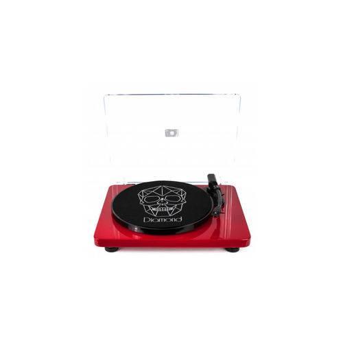 Vitrola Toca Discos Diamond Vermelha - Agulha Japonesa com Software de Gravação para MP3 - Echo Vintage