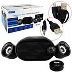 Ficha técnica e caractérísticas do produto Caixa de Som Mini Subwoofer 2.1 Bluetooth - KP-6018BH - Knup