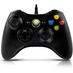 Controle Xbox 360 com Fio Preto Oficial Microsoft