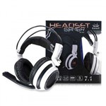 Fone Headset Gamer 7.1 Pc Knup Kp400 P2 Microfone USB Led + Y P2