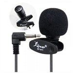 Ficha técnica e caractérísticas do produto Kit Microfone de Lapela Knup + Adaptador para Celulares