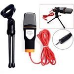 Microfone Condensador Knup Kp-917 de Mesa com Tripé e Cabo P2