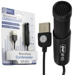 Microfone Condensador para Gravação no Pc Mesa Knup Kp-915