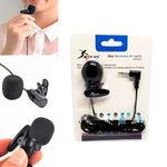 Ficha técnica e caractérísticas do produto Microfone de Lapela para Computador Smartphone para Gravação P2 Kp-911